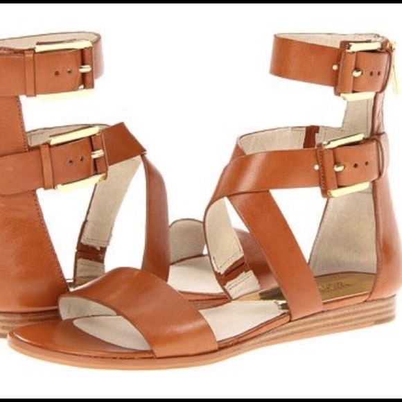 8afdb0757f01 NWT Michael Kors Josephine Flat Gladiator Sandals